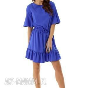 koktajlowa sukienka sukienki luźna z wiązaniem
