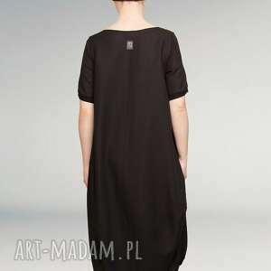 czarna sukienki mała sukienka fason oversize