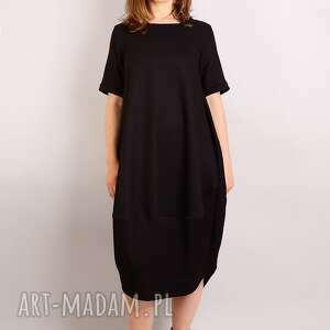 7f43b35a53 intrygujące sukienki - mała czarna z wełny