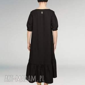 sukienki czarna mała wełniana sukienka