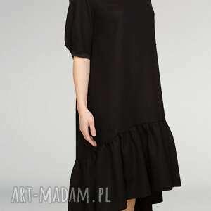 mała sukienki czarna wełniana sukienka