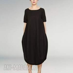 sukienki czarna mała sukienka fason oversize