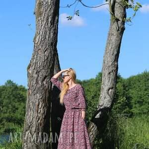 sukienki boho sukienka malinowy ogród