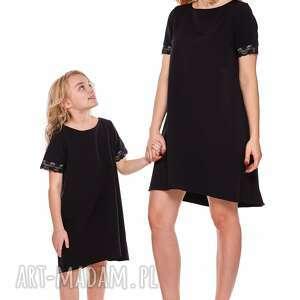 sukienki koronka mama i córka trapezowa sukienka