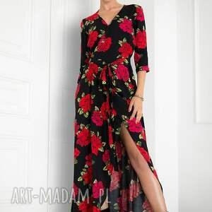 gustowne sukienki sukienka maxi w róże
