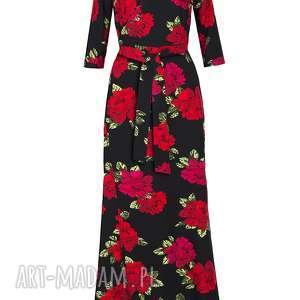róże sukienki maxi sukienka w