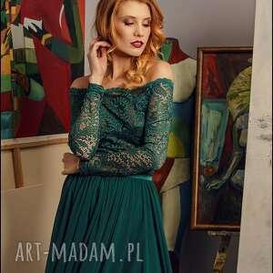 Dreamsbazaar sukienki: maxi sukienka z szyfonową spódnicą rozm 34 -42 - maxisukienka sukienkawieczorowa