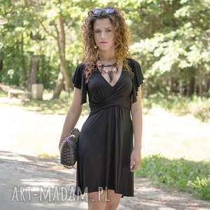 unikatowe elastyczna megi - mała czarna sukienka