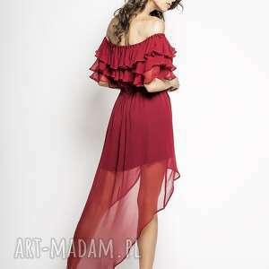 handmade sukienki sukienka-hiszpanka mia - czerwona jedwabna hiszpanka