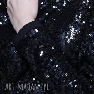 moda sukienki mini black sequin 36