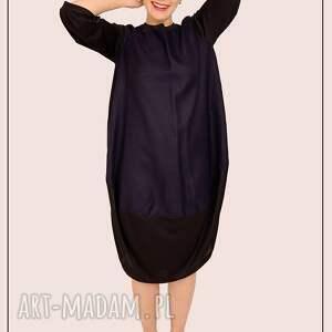 niebieskie sukienki przecena minimalistyczna sukienka oversize
