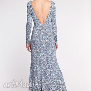 moda sukienki niebieskie nemezja - sukienka