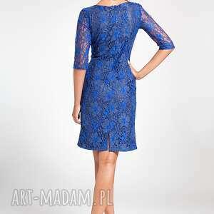 moda sukienki niebieskie ramona - sukienka chabrowa 38