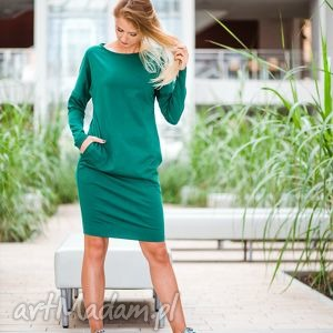 gustowne sukienki sukienka overlong   dresowa