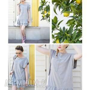 dresowa sukienka sukienki oversize letnia szara