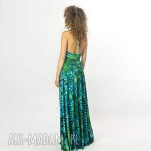 turkusowe sukienki elastyczna paloma - letnia suknia