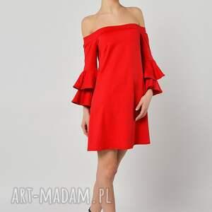 trendy sukienki czerwona pepperoni - sukienka