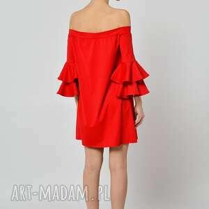sukienki jersey pepperoni - czerwona sukienka