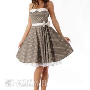 sukienka-pin-up sukienki piękna rozkloszowana sukienka