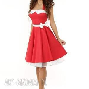 02a104981c atrakcyjne sukienki - piękna rozkloszowana sukienka pin up - ella