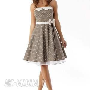 unikalne sukienki sukienka-retro piękna rozkloszowana sukienka