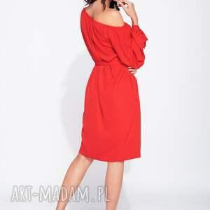 czerwone sukienki wiązana piękna sukienka wizytowa