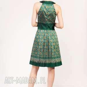 jedwab sukienki zielone sukienka kamala