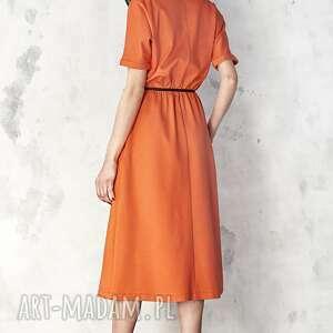 sukienki sukienka pomarańczowa