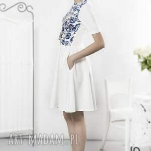 gustowne sukienki sukienka porcelanowa ecru