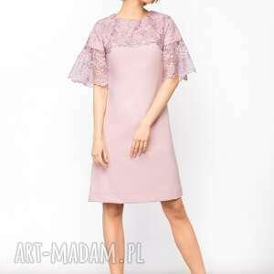 hand made sukienki koronkowa sukienka trapezowa z koronką roz.
