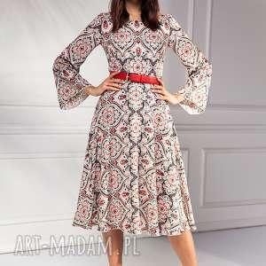 moda sukienki czerwone sukienka marina