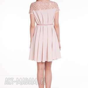 beżowe sukienki wesele sukienka alicja