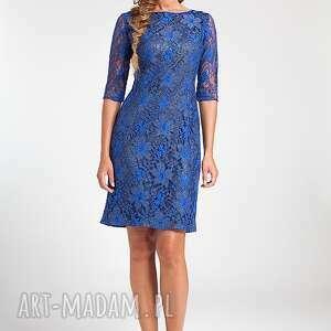 modne sukienki moda ramona - sukienka chabrowa 38