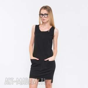 intrygujące sukienki rectangle sukienka dresowa czarna