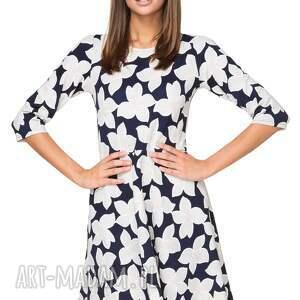 sukienki rozkloszowana sukienka t211, wzór w