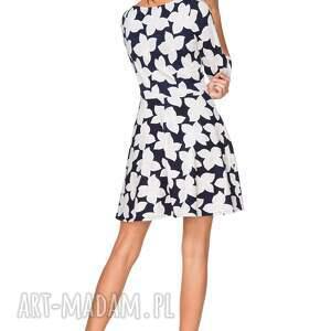 unikatowe sukienki sukienka rozkloszowana t211, wzór w