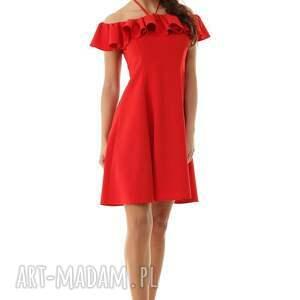 11cf8f0c8c sukienki - rozkloszowana sukienka w stylu hiszpanki czerwona