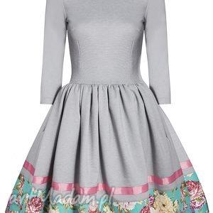 kwiaty sukienki rozkloszowana sukienka