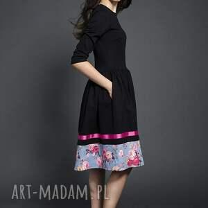 ręcznie wykonane sukienki sukienka rozkloszowana midi