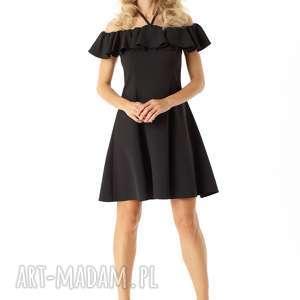 handmade mała czarna rozkloszowana sukienka w stylu