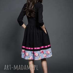 czarne sukienki sukienka rozkloszowana midi