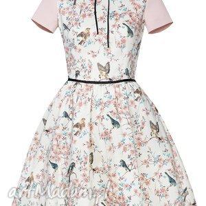 ptaszki sukienki rozkloszowana sukienka w
