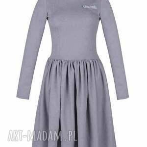sukienki rustic rozkloszowana sukienka z haftowaną