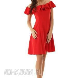sukienka wizytowa rozkloszowana w stylu