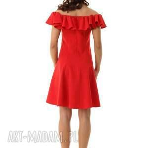 sukienka wizytowa sukienki rozkloszowana w stylu