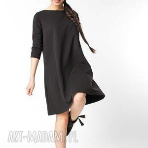 dzianina sukienki s / m sukienka typu klosz wiosenna