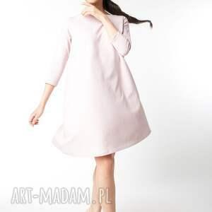dzianina sukienki s/ m sukienka typu klosz wiosenna
