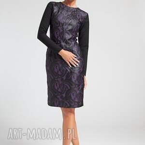 fioletowe sukienki moda sabina - sukienka 36