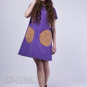 sukienki zima skinfish lavender, bawełniana