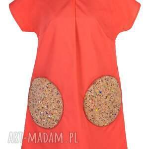 sukienki zima skinfish neon melon, bawełniana